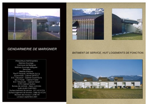 GENDARMERIE de MARIGNIER (74)
